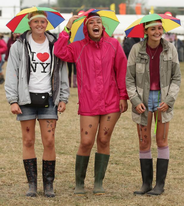 The rain isn't dampening the spirit of the festival.