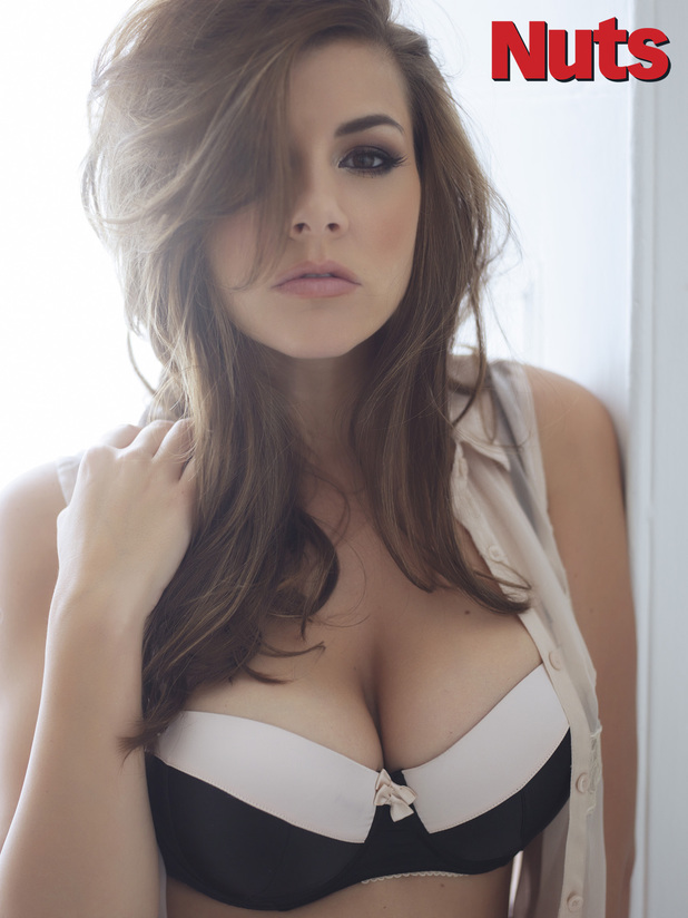 Imogen Thomas in Nuts magazine photo shoot