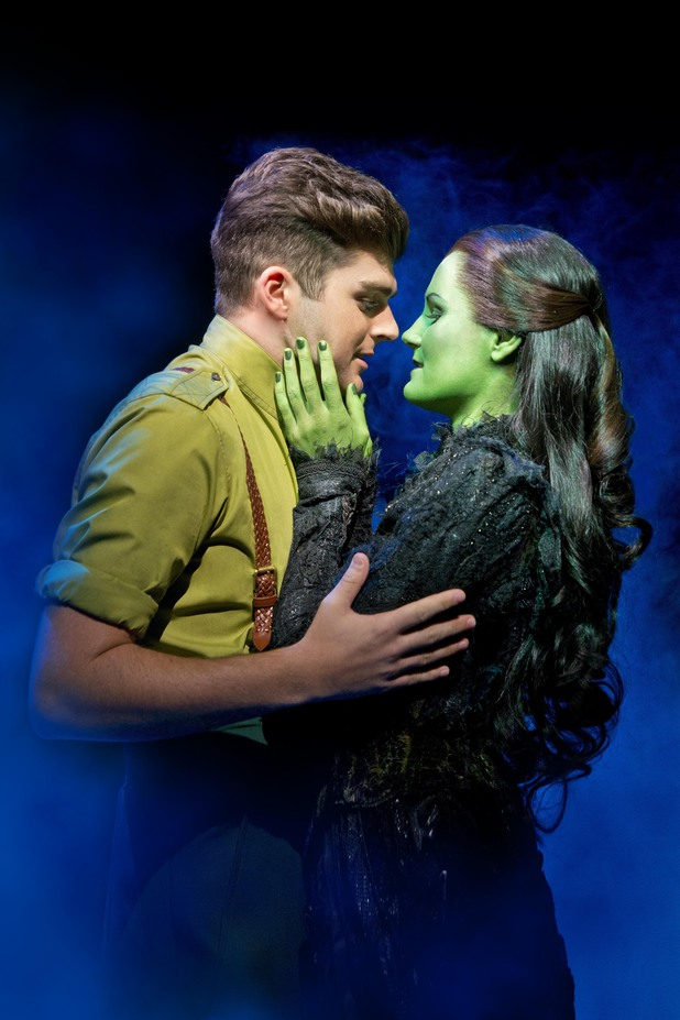 Liam Doyle as Fiyero and Nikki Davis-Jones as Elphaba