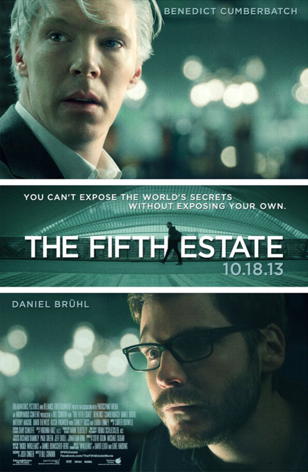 Benedict Cumberbatch and Daniel Brühl in the poster for 'The Fifth Estate'