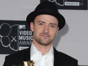 Justin Timberlake backstage in the Awards Room at the MTV Video Music Awards 2013