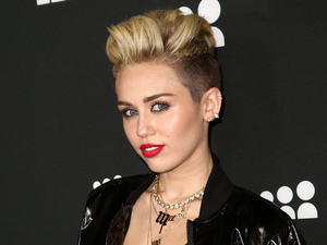 Miley Cyrus attending a Myspace Event at the El Rey Theatre