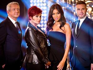 The X Factor 2013 judges Louis Walsh, Sharon Osbourne, Nicole Scherzinger and Gary Barlow