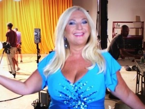 Vanessa Feltz on 'Strictly Come Dancing' set