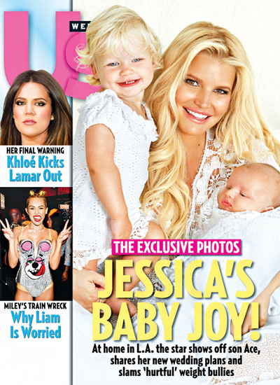 Jessica Simpson introduces her baby son Ace Knute