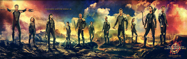 The Hunger Games Catching Fire banner
