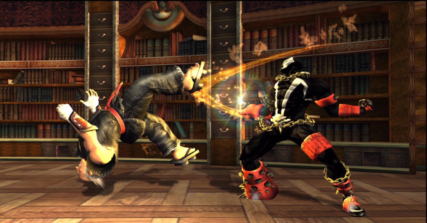 Spawn and Heihachi in Soulcaliber 2