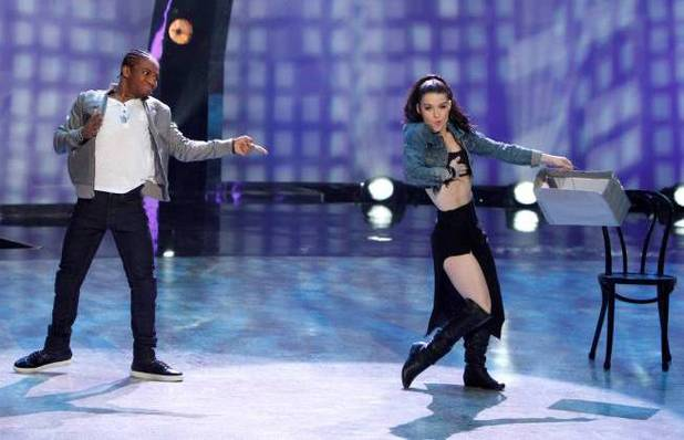 "Fik-Shun and Amy Yakima perform a Hip-Hop routine to ""Lemme See"" choreographed by Dave Scott"