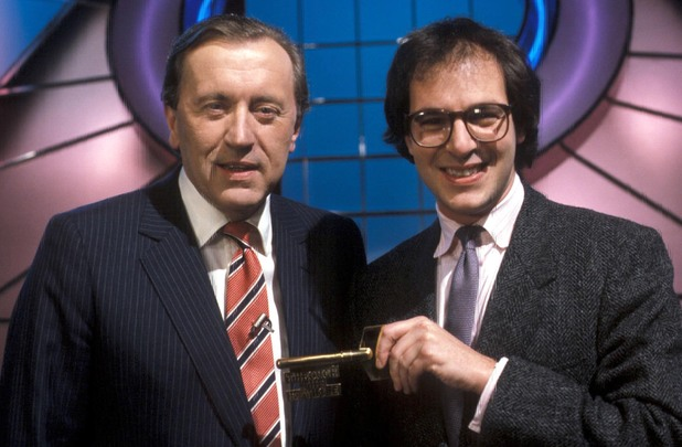 Sir David Frost and Lloyd Grossman presenting 'Through the Keyhole'