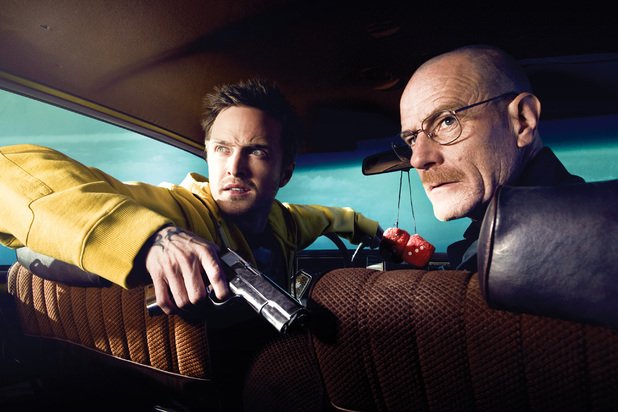 Breaking Bad Season 2: Jesse Pinkman (Aaron Paul) and Walter White (Bryan Cranston)