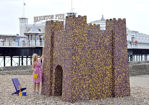 Cadbury's Chocolate castle on Brighton Beach