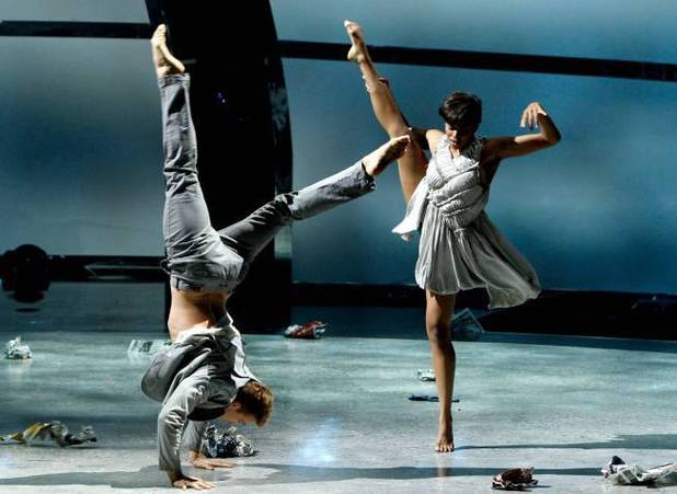 "All-star dancer Neil Haskell and top 6 contestant Jasmine Harper perform a Contemporary routine to ""Unfaithful"" choreographed by Tyce Diorio"