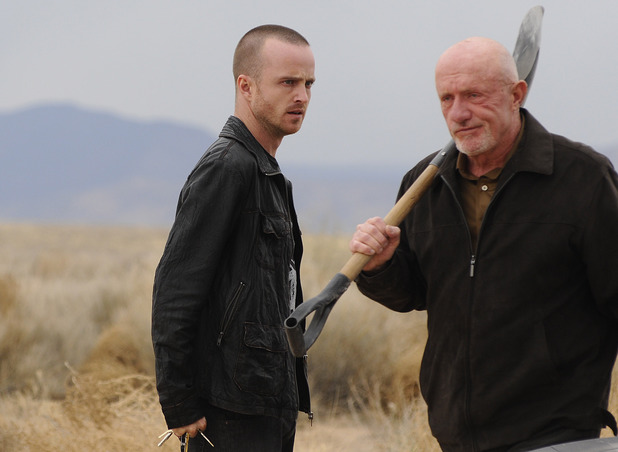 Breaking Bad S04E5: Jesse Pinkman (Aaron Paul) and Mike (Jonathan Banks)