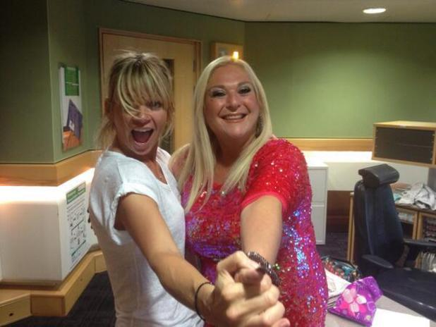 Vanessa Feltz with Zoe Ball