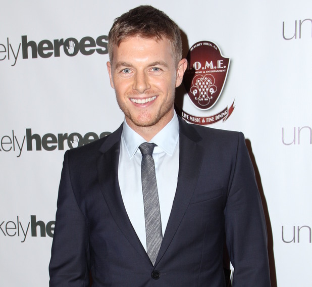 Rick Cosnett at a charity birthday party.