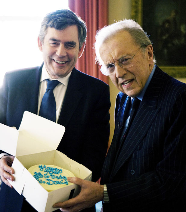 Gordon Brown and Sir David Frost