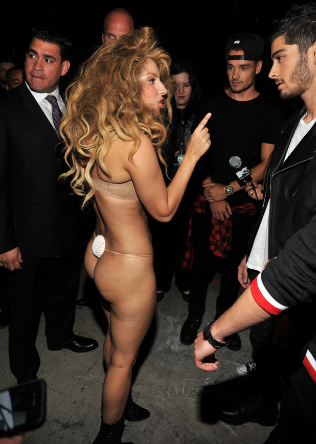Lady Gaga and One Direction attend the 2013 MTV Video Music Awards