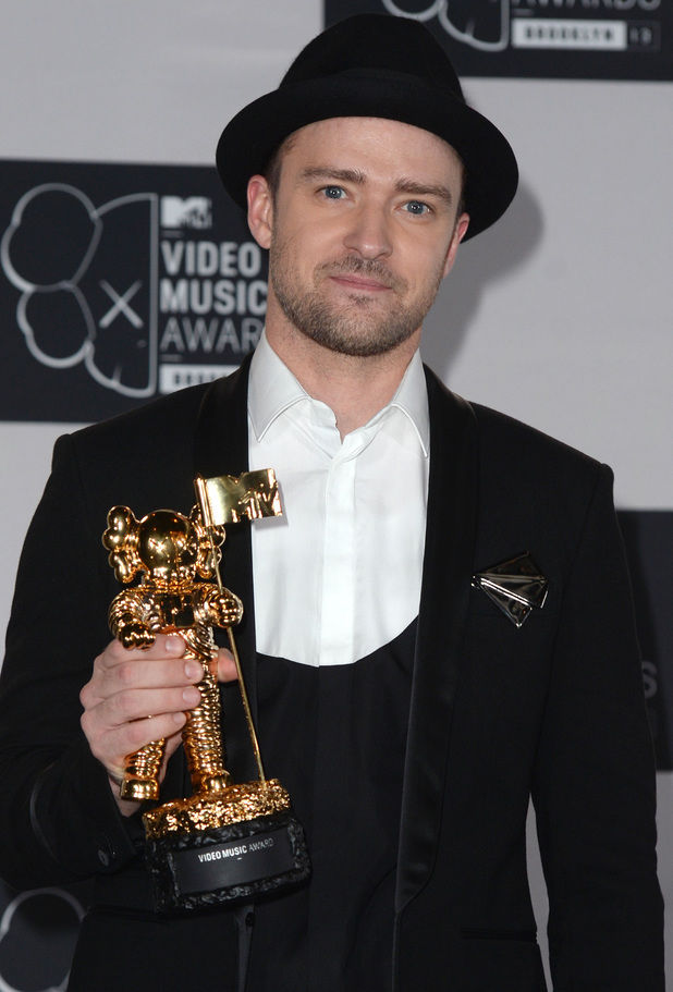 Justin Timberlake backstage in the Awards Room