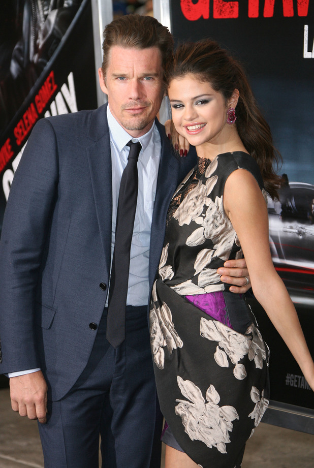 Ethan Hawke, Selena Gomez, Los Angeles premiere of 'The Getaway' at Regency Village Theatre