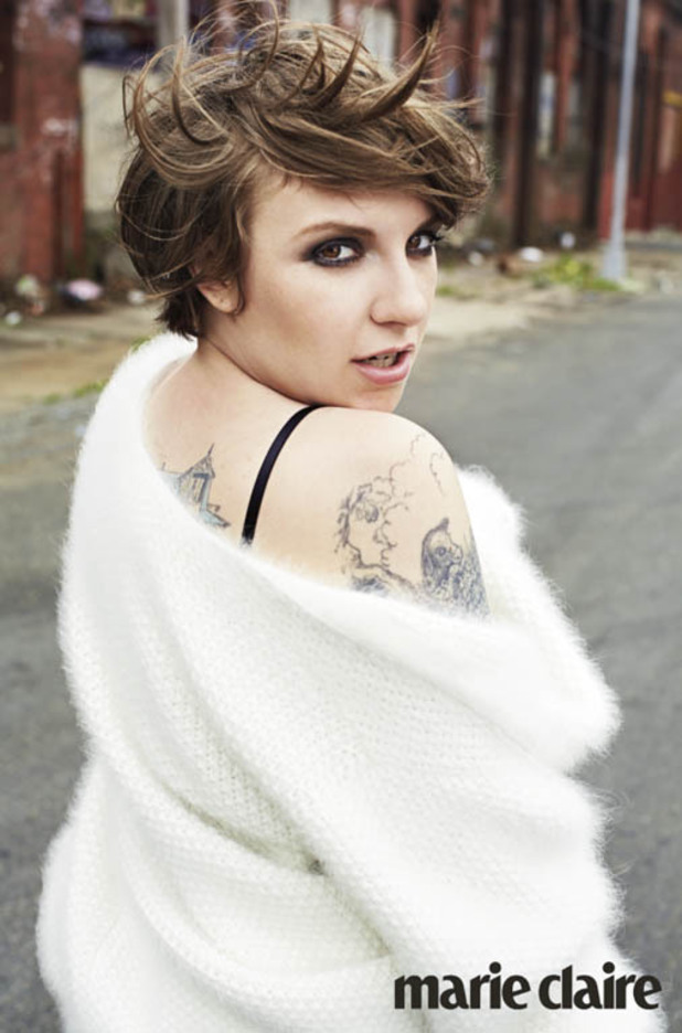 Lena Dunham poses for 'Marie Claire'