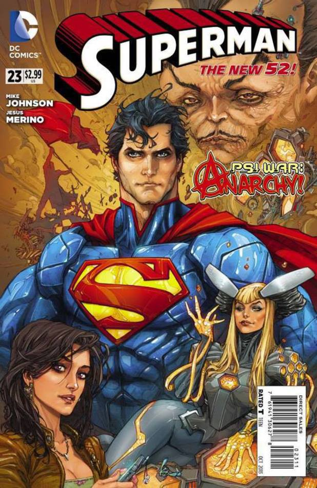 Superman #23 cover illustration