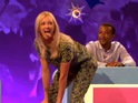 The returning panellist shows off her best Miley impression on the ITV2 show.