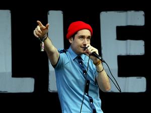 Dan Smith from Bastille at Bestival 2013