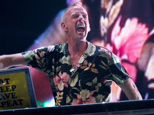 Fatboy Slim takes to the Main Stage.