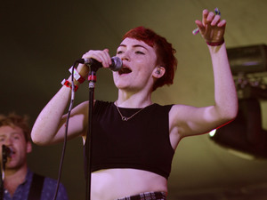 Chloe Howl performing on stage at Bestival.