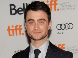"Daniel Radcliffe arrives at the premiere of ""The F Word"""