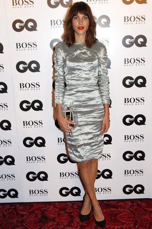Alexa Chung attends the GQ Men of the Year Awards in association with Hugo Boss at the Royal Opera House, London.