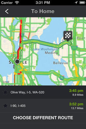 'INRIX Traffic Maps, Routes & Alerts' screenshot
