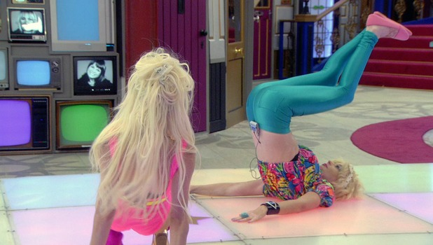 Lauren Harries, Courtney Stodden, dance-off task, Celebrity Big Brother 2013