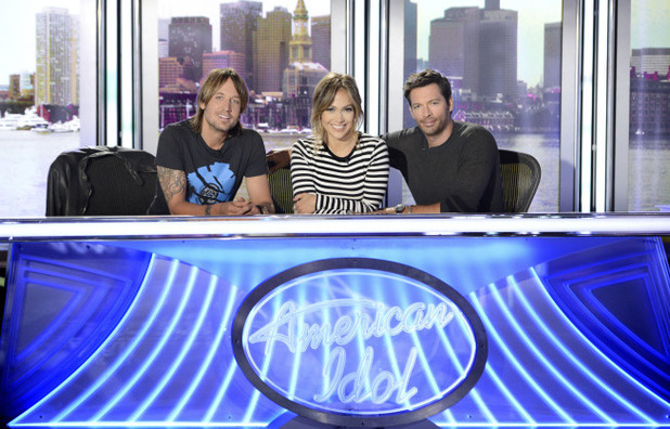 American Idol - Season 13 judges: Keith Urban, Jennifer Lopez and Harry Connick Jr.