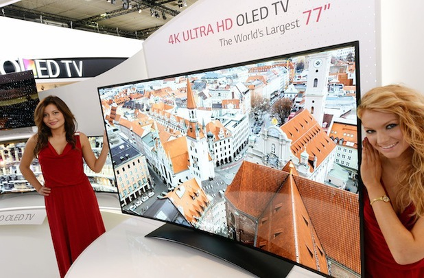 LG's 77-inch curved OLED TV