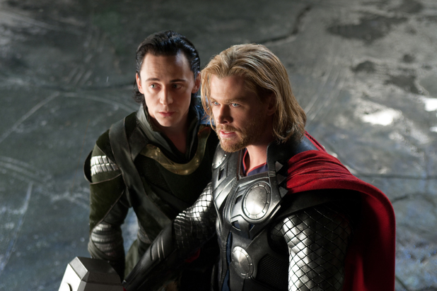Tom Hiddleston, Chris Hemsworth in 'Thor'