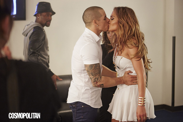 Jennifer Lopez and Casper Smart picture in Cosmopolitan magazine.