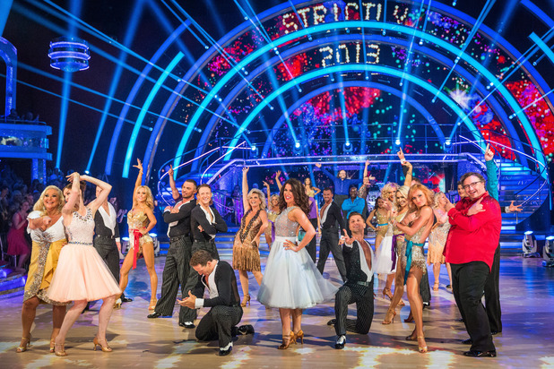 The cast of Strictly 2013.