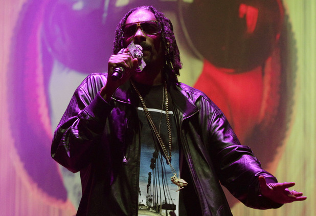 Snoop Dogg performs on the Main Stage on Saturday night.