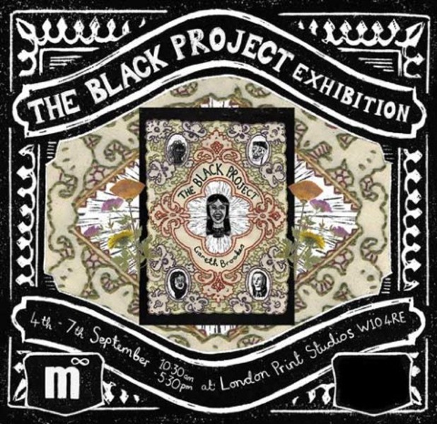 The Black Project exhibition poster