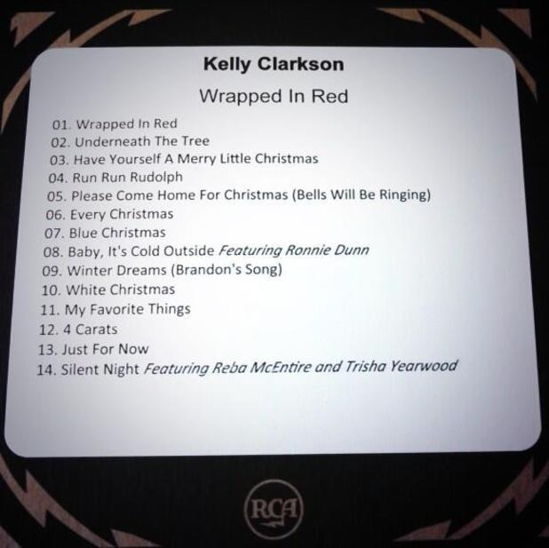 Kelly Clarkson 'Wrapped In Red' track listing