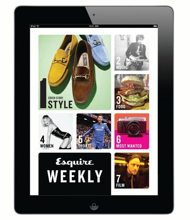Esquire Weekly tablet content