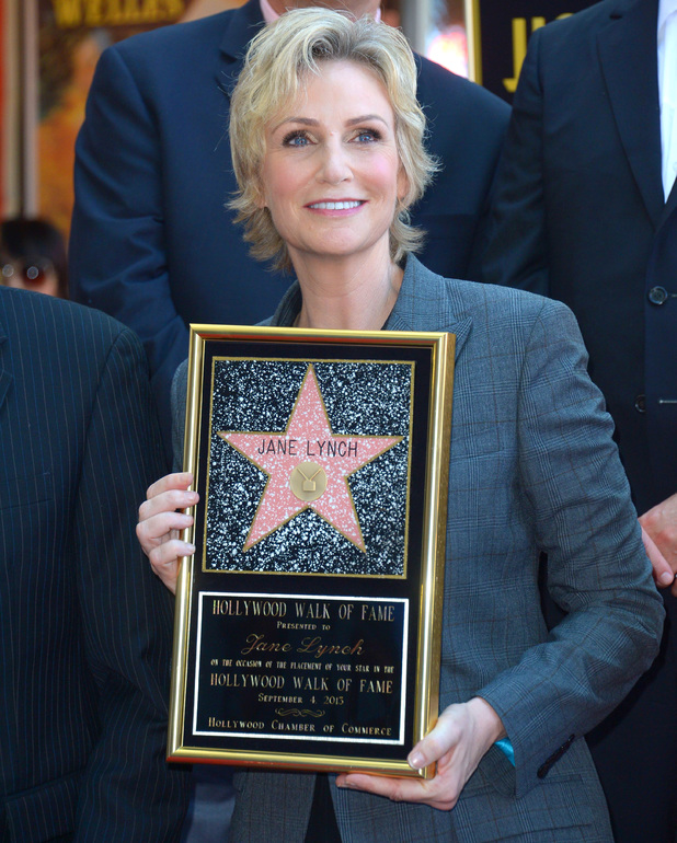 Jane Lynch honoured with star on the Hollywood Walk of Fame, Los Angeles.