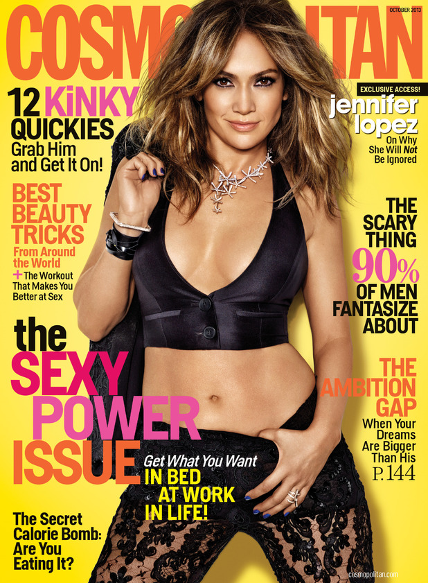 Jennifer Lopez on the cover of Cosmopolitan.
