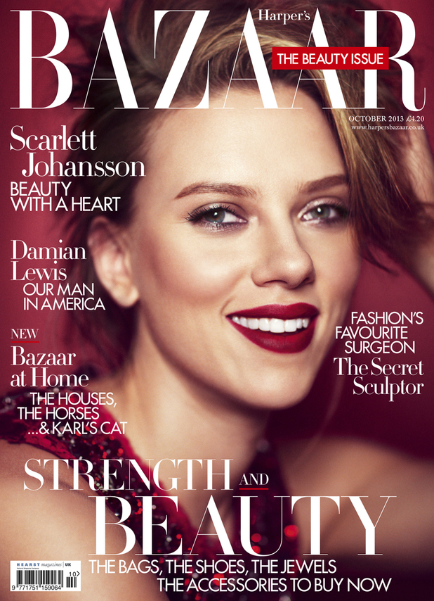 Scarlett Johansson on the cover of Harper's Bazaar
