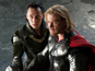 The clip shows Thor reuniting with his brother Loki to save Earth.