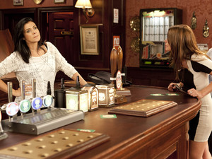 Carla tries to talk Michelle round.