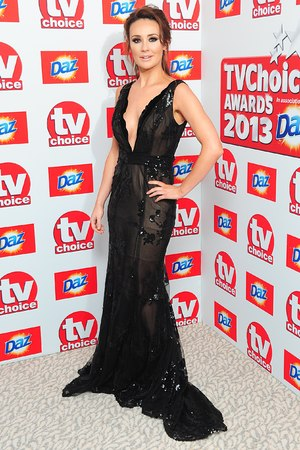 Claire Cooper arriving for the 2013 TV Choice awards at the Dorchester Hotel, London.