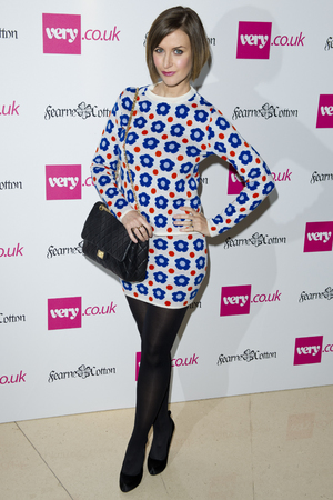 Katherine Kelly arriving at the launch of Fearne Cotton's Spring/Summer 2014 range for Very.co.uk, at Claridge's in central London.