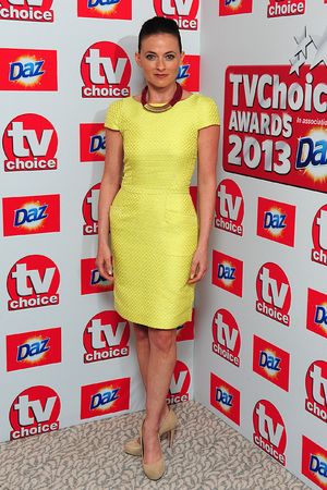 Lara Pulver, arriving for the 2013 TV Choice awards at the Dorchester Hotel, London
